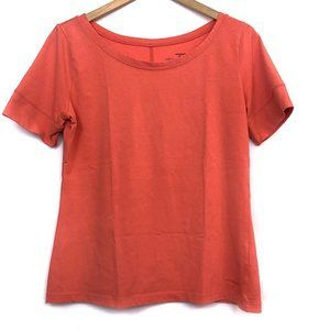 PATAGONIA Coral Orange Organic Cotton Short Sleeve